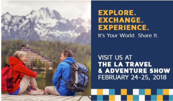 GuesttoGuest and HomeExchange to The LA Travel & Adventure Show on February 24-25, 2018