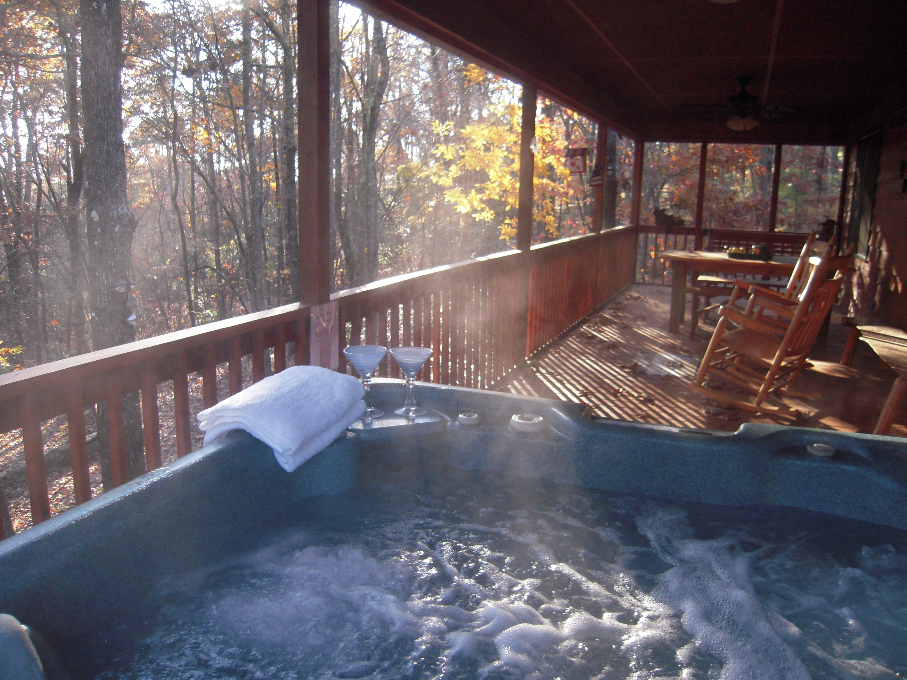 gameroom bedroom views cabins naked img with bath bear louisiana geaux cabin hot house tub tubs in mountain