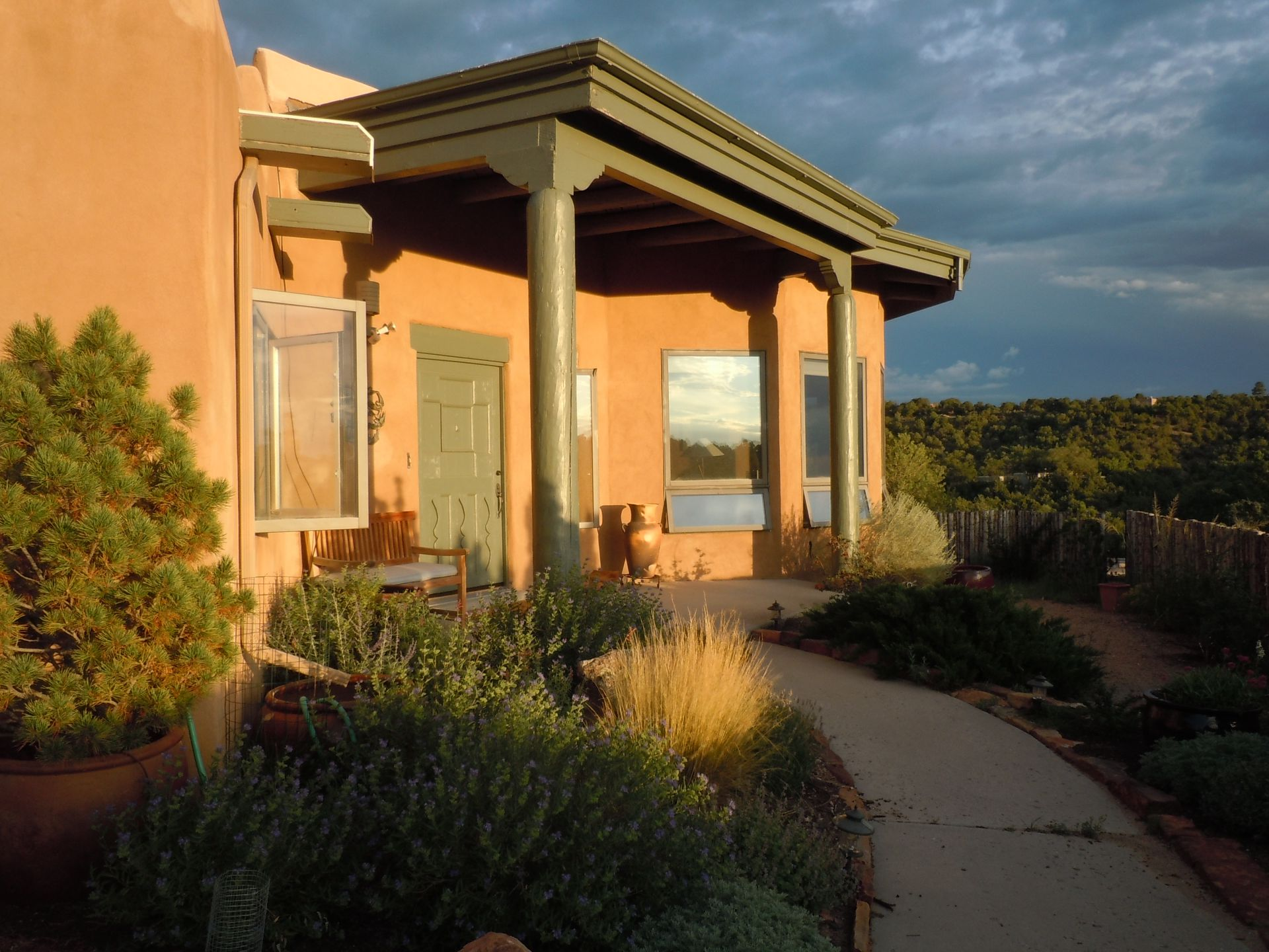Santa Fe home filled with art, light and expansive views, near Plaza ...