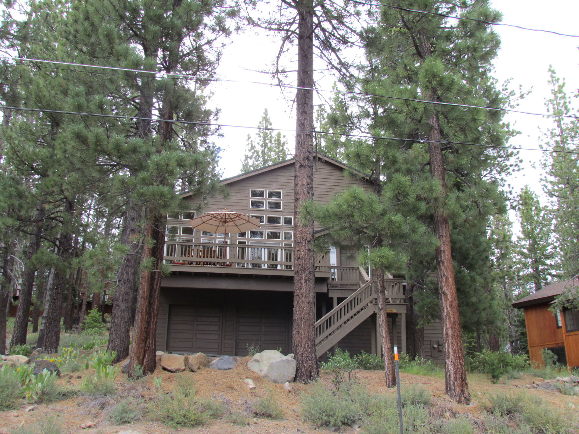 tahoe front cabins west lp getaway lake cabin of in a shore retreat