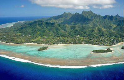 The island of Rarotonga and Muri lagoon
