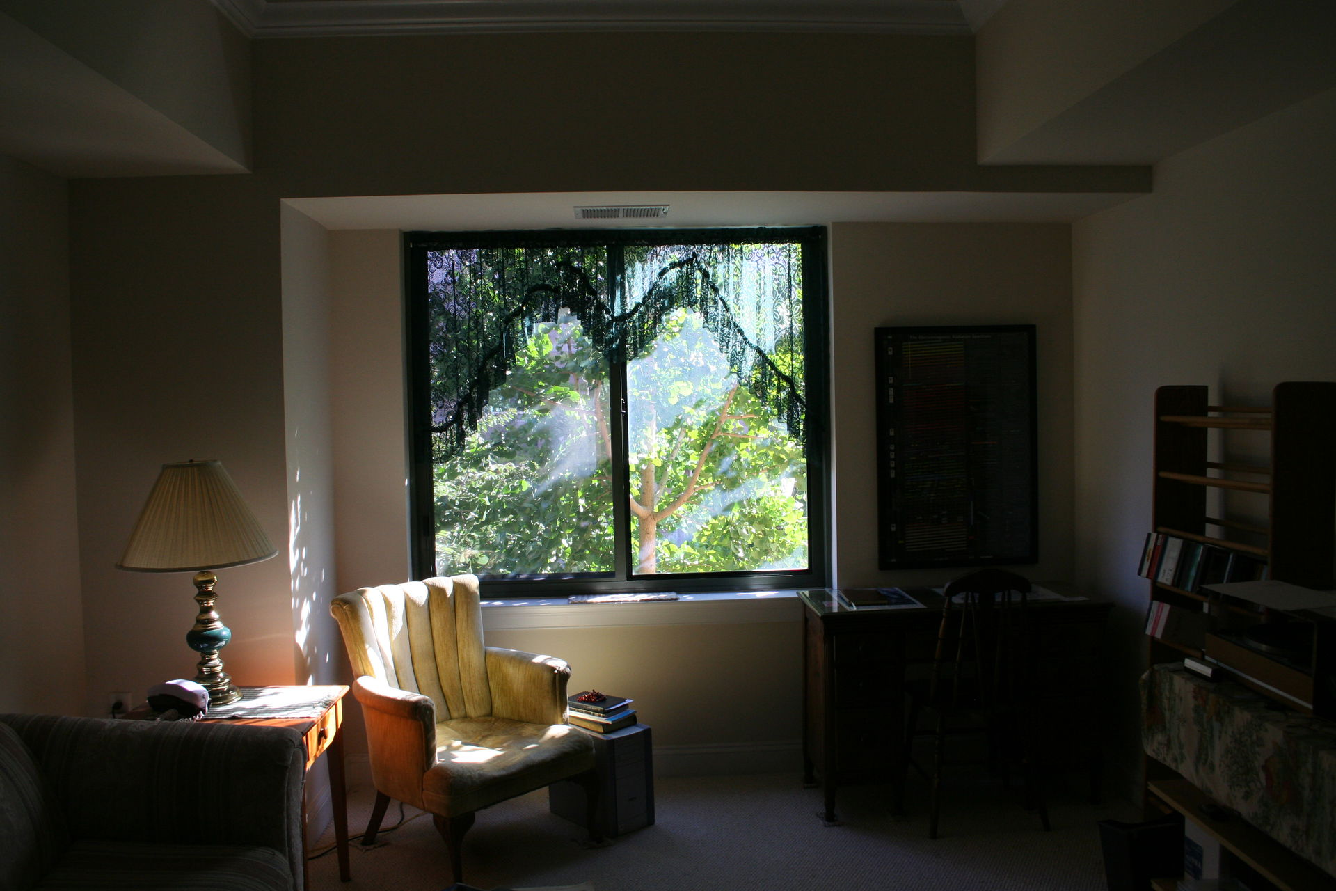 Living Room Window And My Reading Chair.