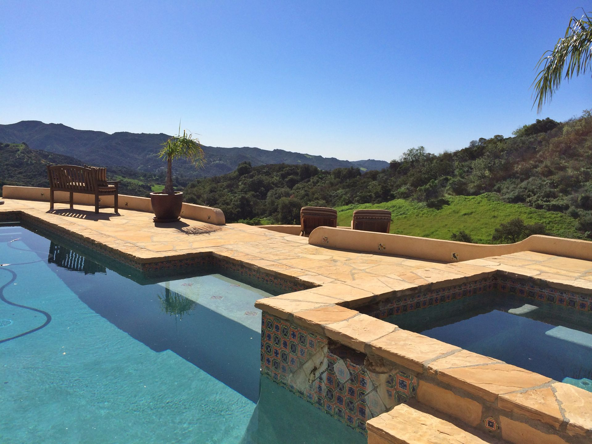 Complete Privacy Looking Out Over The Pool And Jacuzzi Towards Breathtaking  Views Of Topanga State Park ...