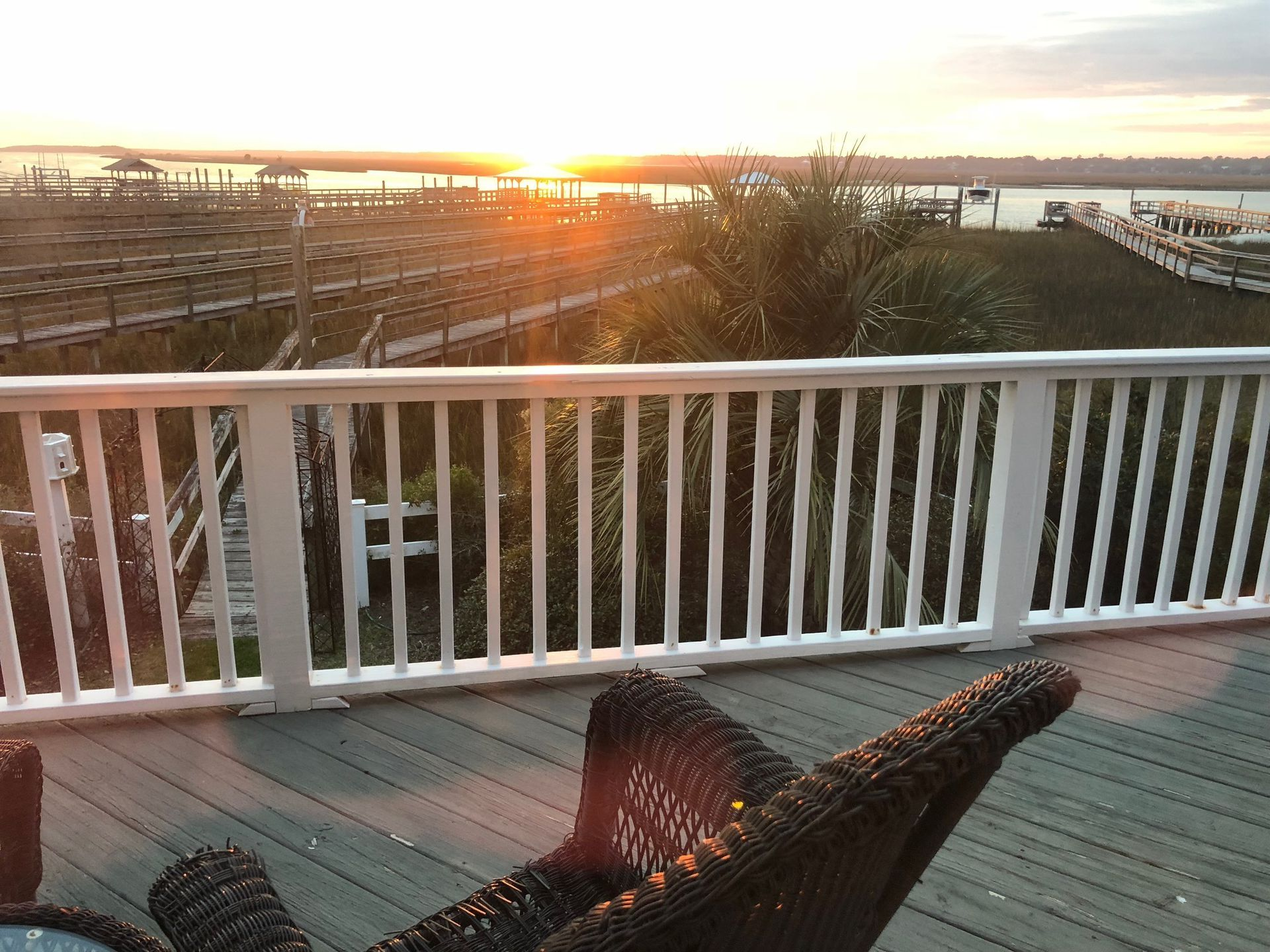 Inlet Front, Deepwater Dock and Sunsets, Just steps from the beach ...