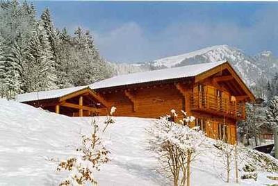 Beautiful chalet in Swiss Alps ski resort (Lake Geneva Region)