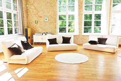 Factory loft with roof terrace in the very center of Berlin