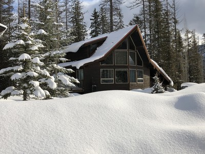 A chalet nestled in the Canadian Rockies at Fernie, Alpine Resort.